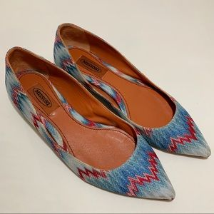 Missoni Pointed Toe Flats